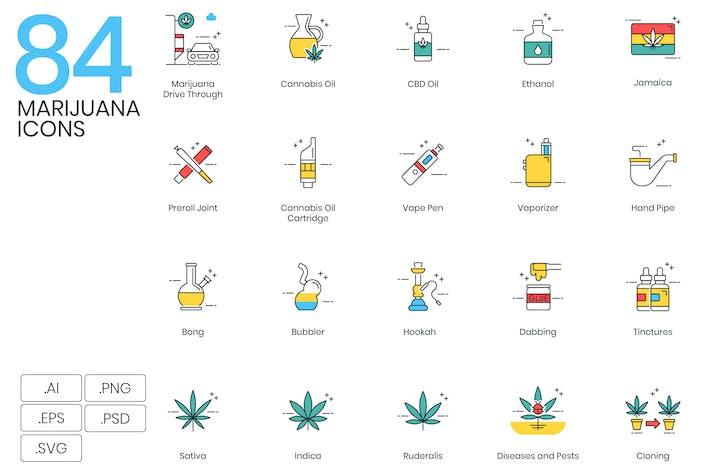 Thumbnail for 84 Marijuana Icons