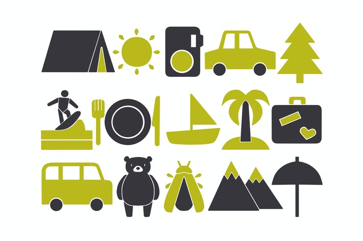 Thumbnail for Two-Tone Travel Clipart