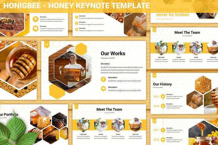 Thumbnail for Honigbee - Honey Keynote Template