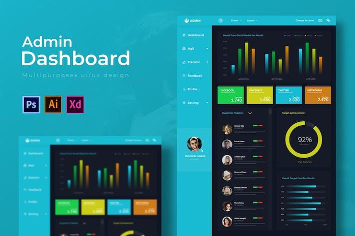 Thumbnail for Blue Dashboard | Admin Template
