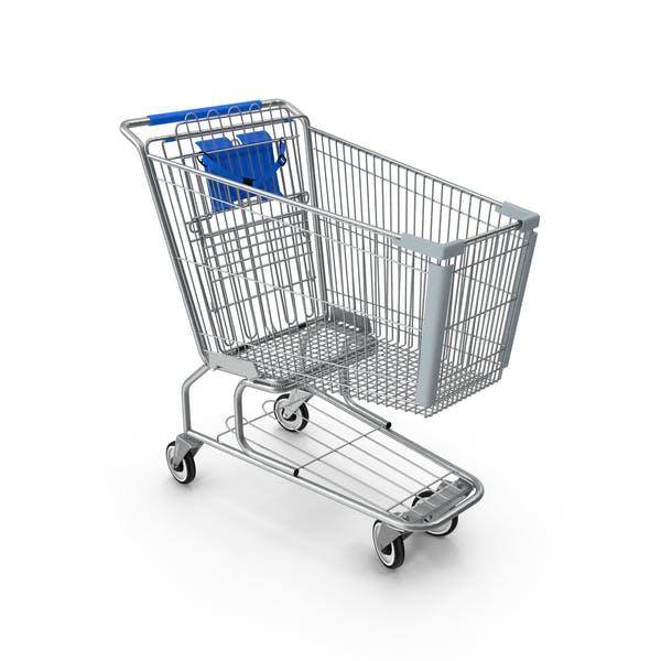 Metal Shopping Cart Blue