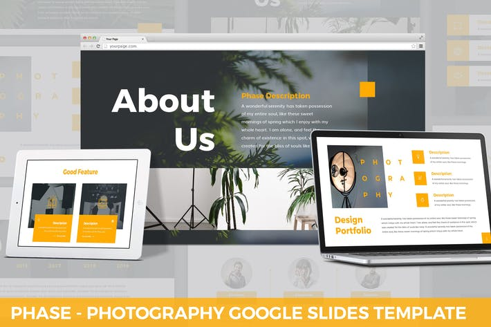Thumbnail for Phase - Photography Google Slides Template