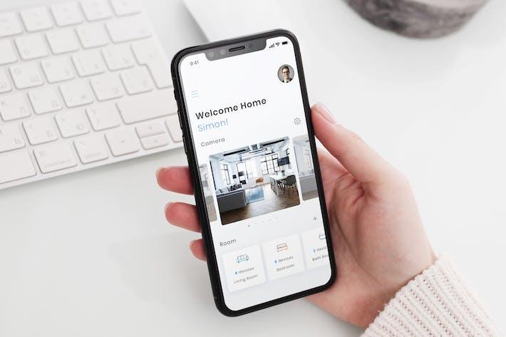 Thumbnail for Smart Home Dashboard Mobile Ui - B