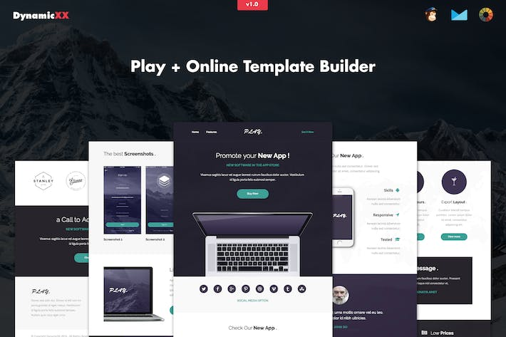 play responsive app email template - Email Template
