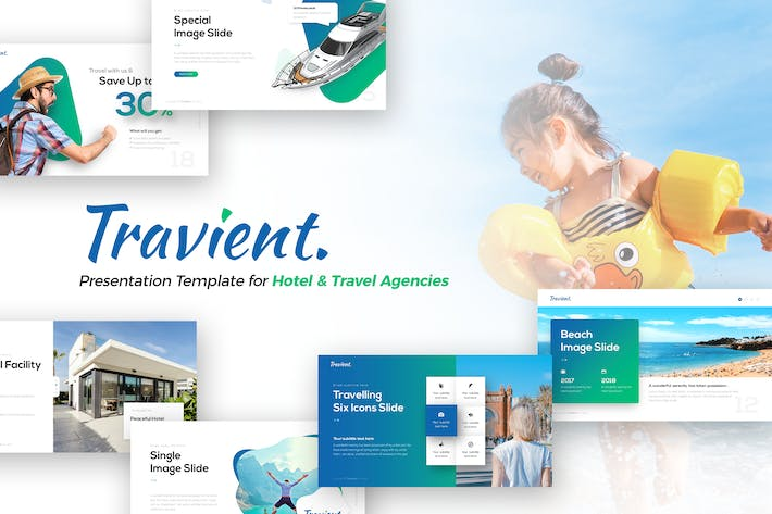 Cover Image For Travient Hotel & Travel Agency PowerPoint Template