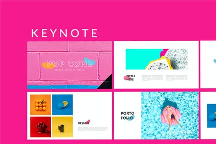 Pop Cone - Full Colors Keynote Template