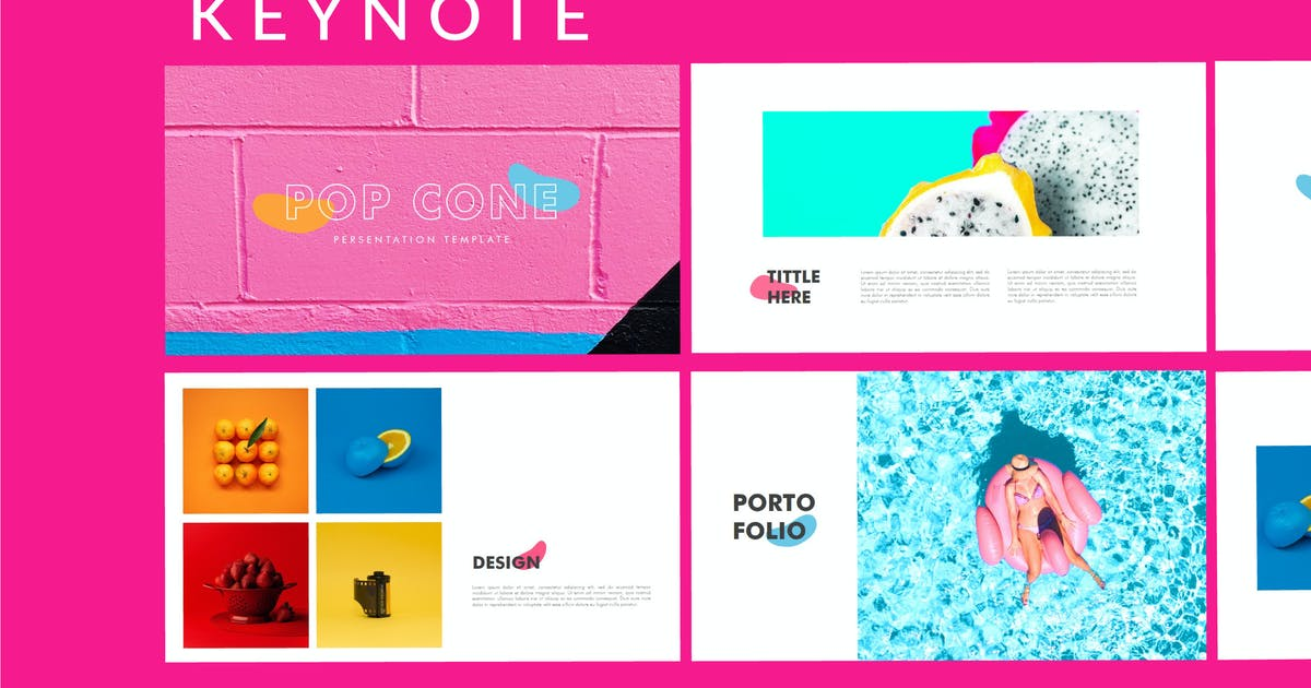 Download Pop Cone - Full Colors Keynote Template by putra_khan