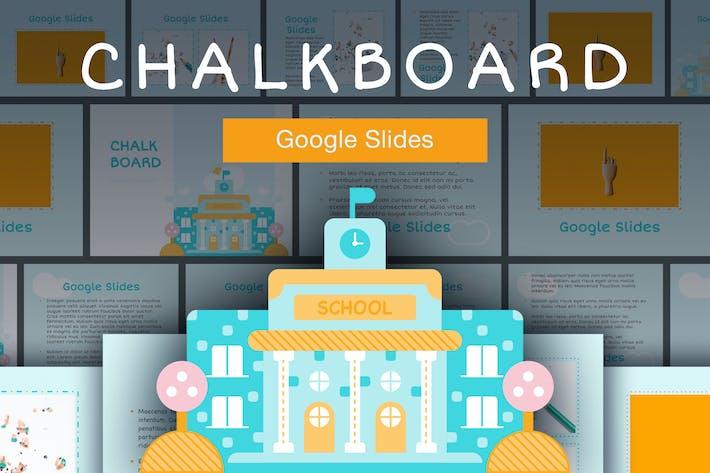 Thumbnail for Chalkboard Google Slides Template