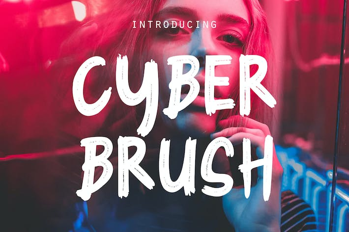 Thumbnail for Cyber Brush - Brush Font RS
