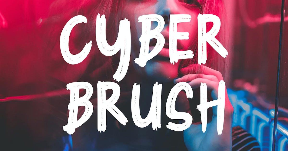 Download Cyber Brush - Brush Font RS by Rometheme