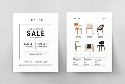 The Clearance Sale Flyer