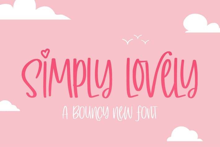 Thumbnail for Simply Lovely Font