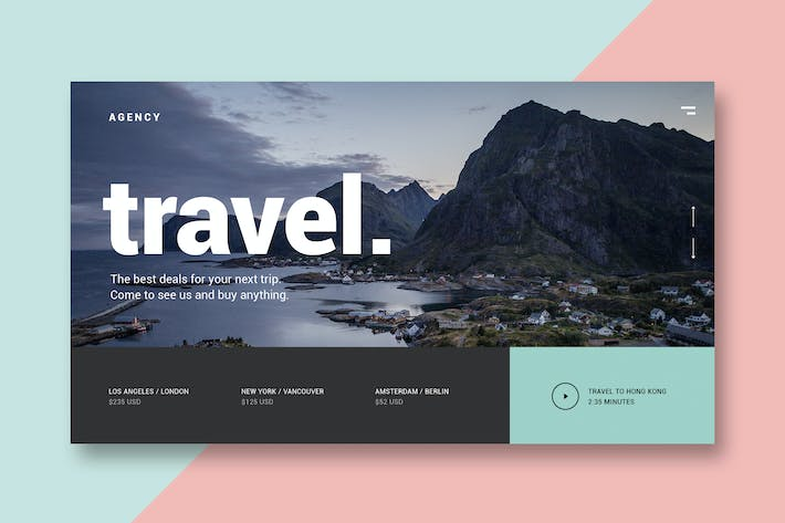 Thumbnail for Travel Agency - Landing Page