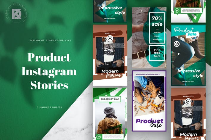 Thumbnail for Instagram Stories Product Pack
