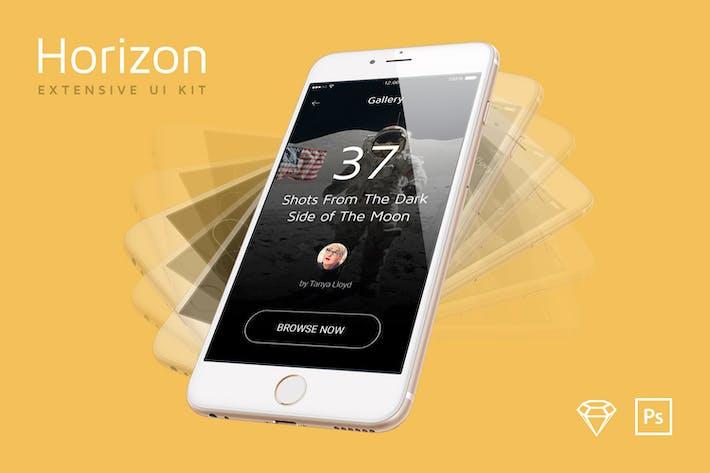 Thumbnail for Horizon Mobile UI Kit