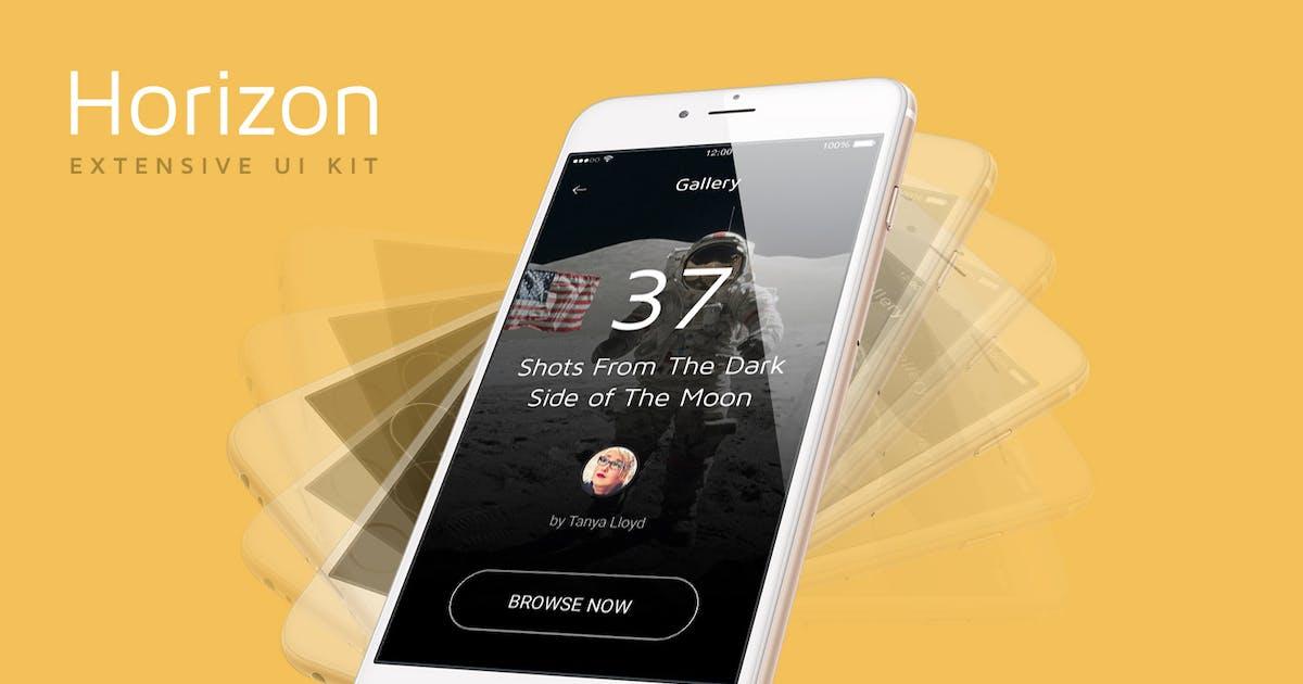 Download Horizon Mobile UI Kit by pixelbuddha_graphic