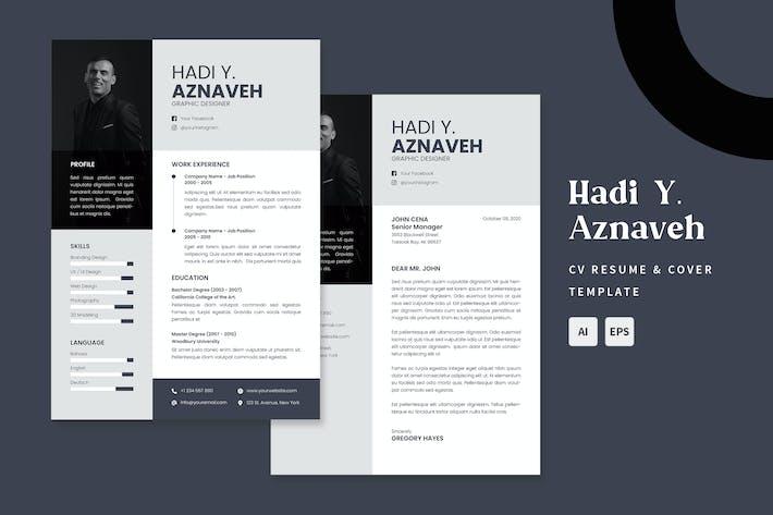 Thumbnail for Aznaveh - CV & Resume Templates