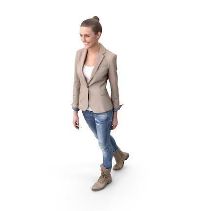 Walking Woman Posed