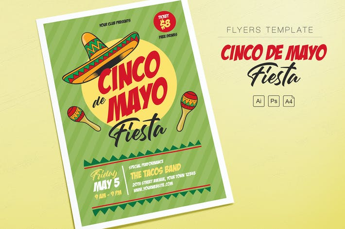 Thumbnail for Cinco de Mayo Fiesta Flyers