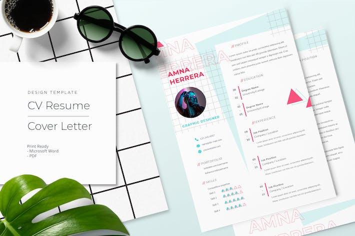 Thumbnail for Aamna Herrera - CV Resume Template
