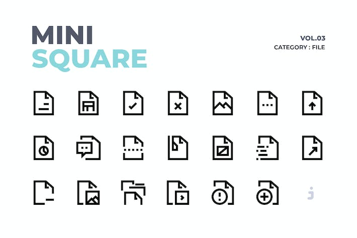 Thumbnail for Mini square - 60 File Icons