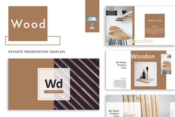 Thumbnail for Wood keynote Template