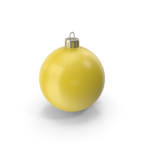 Christmas Ornament Yellow