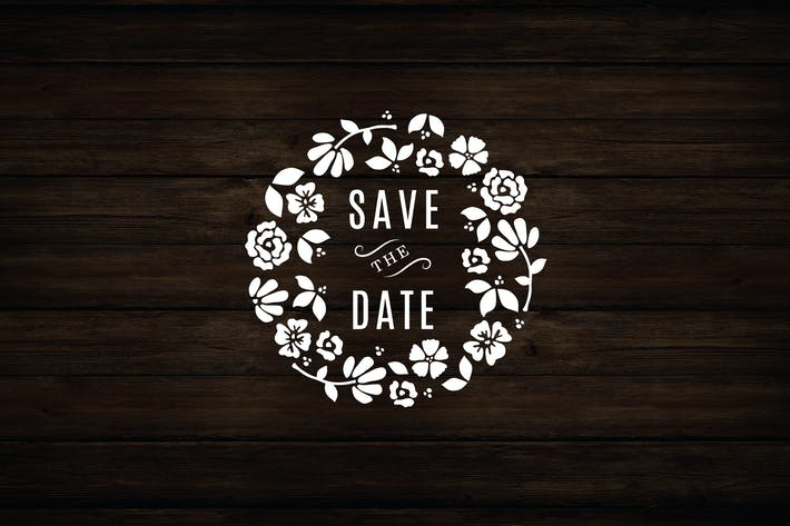 Thumbnail for Floral Wreath Save The Date