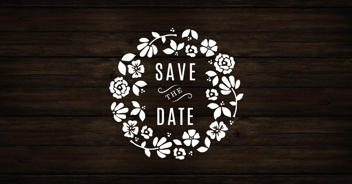 Download Floral Wreath Save The Date by roselindo
