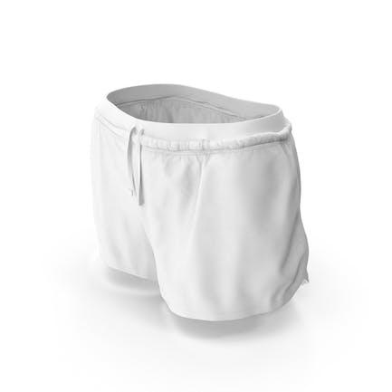 Pantalón Corto Deportivo Mujer Blanco