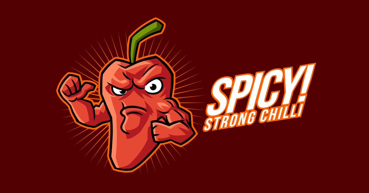 Download Strong Red Chilli Pepper Mascot Logo by Suhandi
