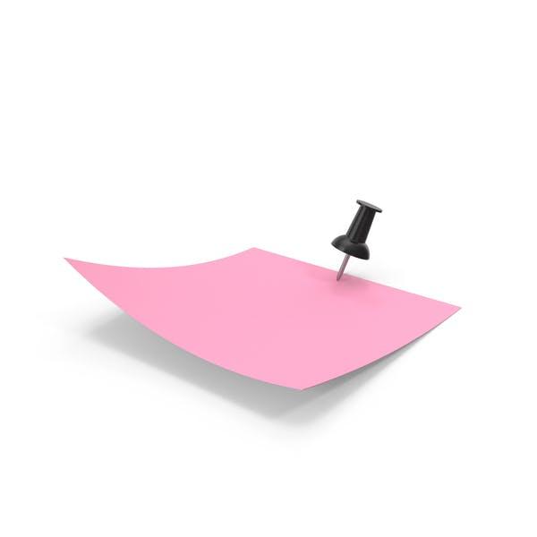 Розовая бумага с черным штифтом