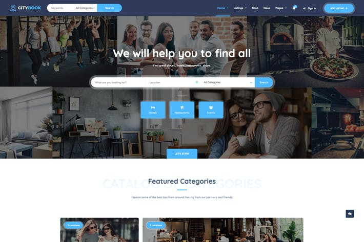 Cover Image For CityBook - Directory & Listing WordPress Theme