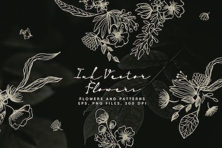 Ink Vector Flowers