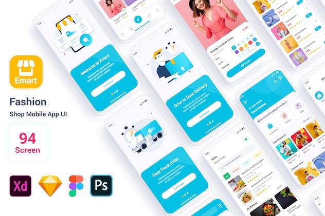 Emart – Fashion Shop Mobile App UI