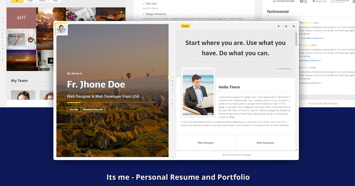 Download It's Me - Personal Resume and Portfolio by yobithemes