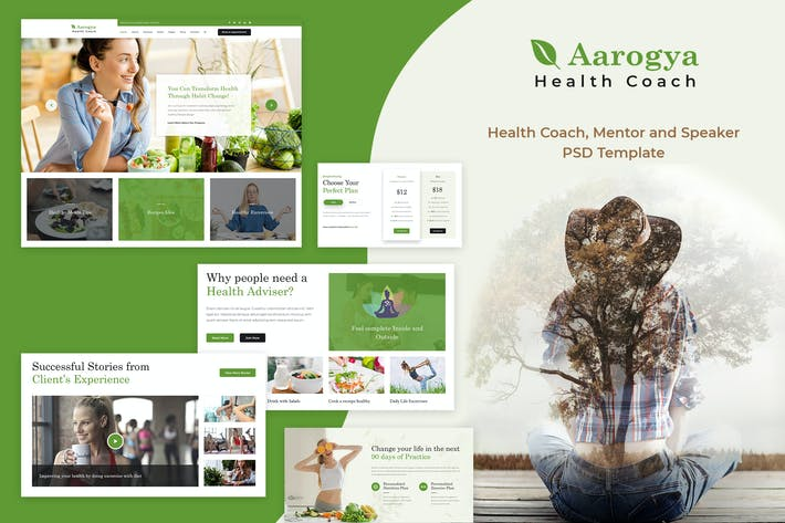 Thumbnail for Aarogya | Health and Wellness Coach PSD Template