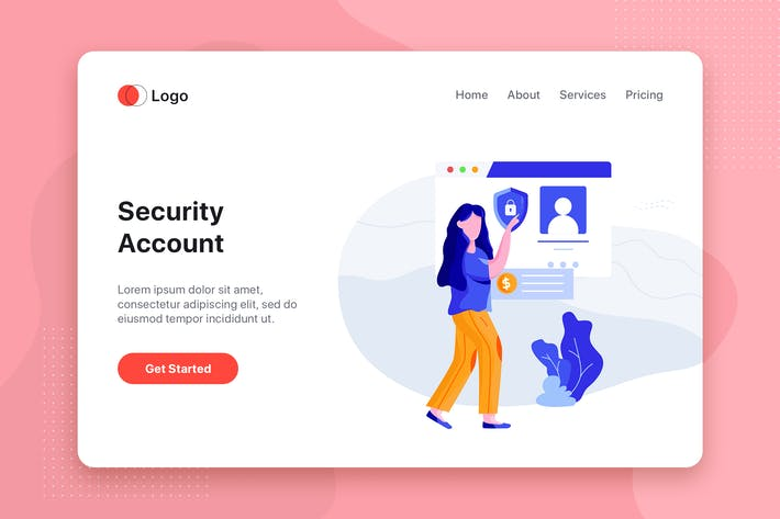 Thumbnail for Security Account - Online Banking app concept