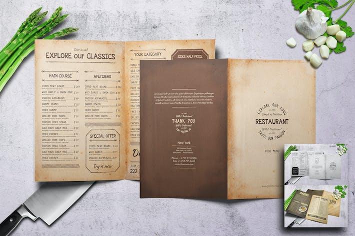 Thumbnail for Ensemble de menus rétro Bifold