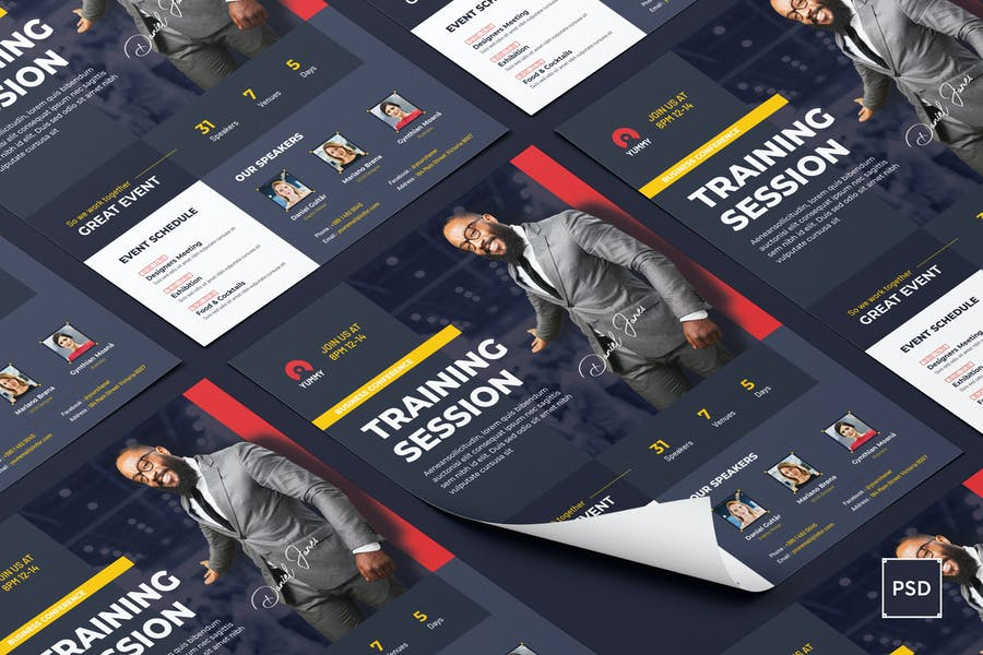 Conference Flyer PSD Template