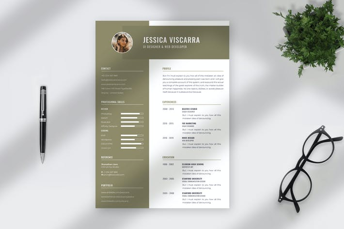 Thumbnail for Minimalist CV Resume Template