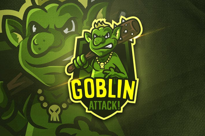 Thumbnail for Goblin Attack - Mascot & Sports Logo
