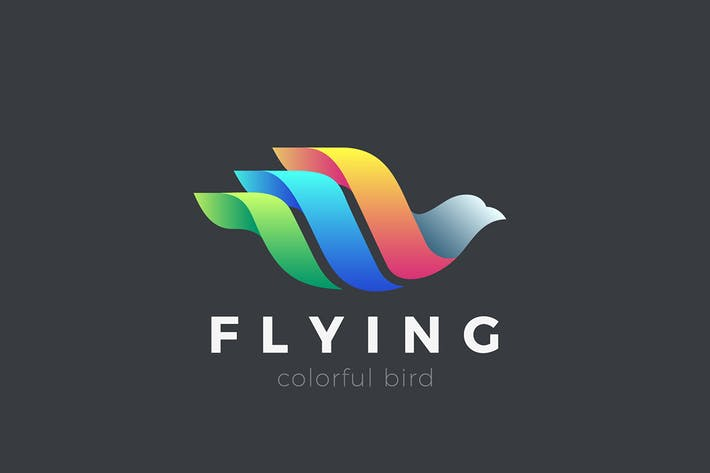 Thumbnail for Flying Bird Logo Colorful Abstract design