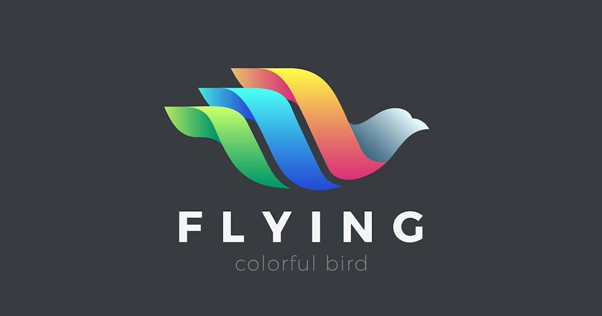 Download Flying Bird Logo Colorful Abstract design by Sentavio