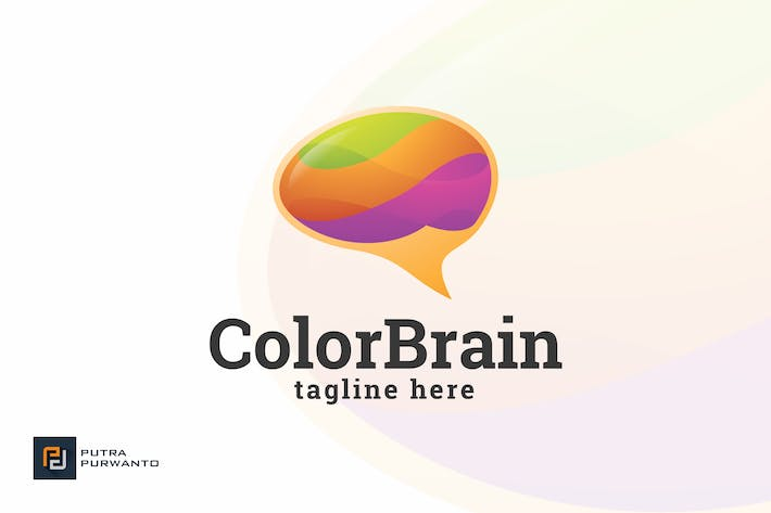 Thumbnail for Color Brain - Logo Template
