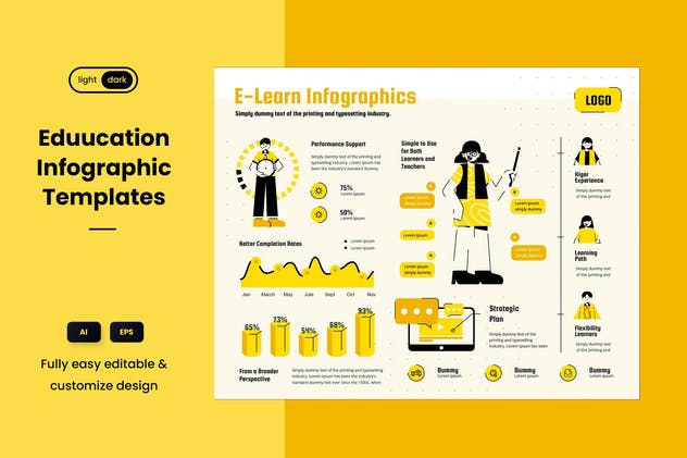 Infographic Chart Elements for Education - product preview 2