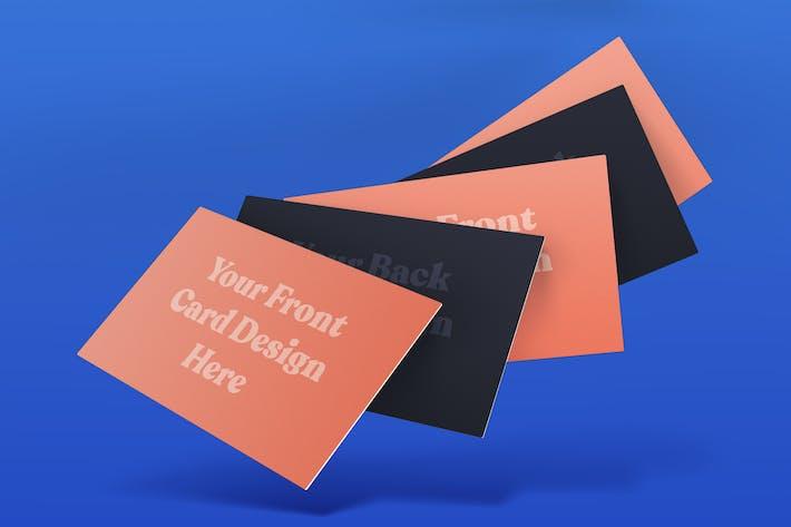 Thumbnail for Business Card Mockup v.06 Floating
