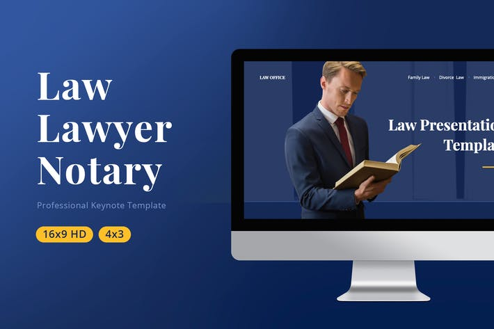 Cover Image For Law Keynote Template