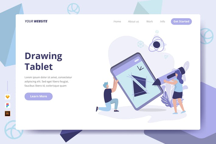 Drawing Tablet - Landing Page