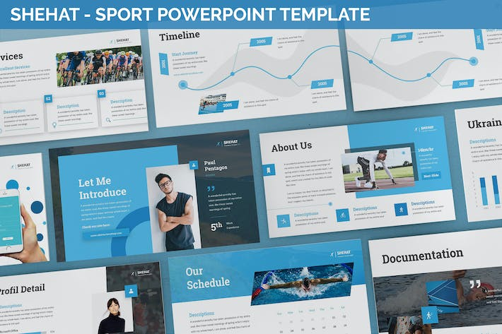 Thumbnail for Shehat - Sport Powerpoint Template